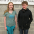 NPHS student Shannon Guerin (Left) and German exchange student Ida Berger (right)