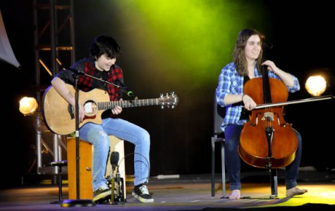 Sarah Rubenstein and Alyssa Almeida take top honors in annual Talent Show