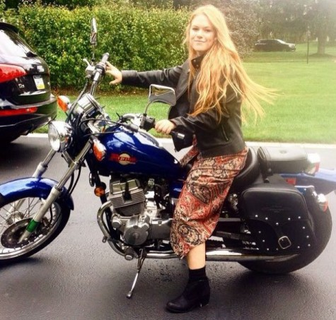 Revved up to come to school: NPHS senior enjoys the freedom of two wheels