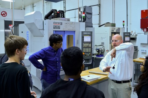 NPHS students receive hands on- up close experience from the field in the world of manufacturing,