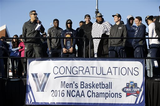 Classes off, party on: a Philly bash for champion Villanova