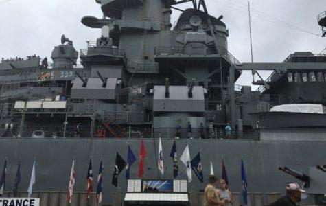 Day 2: performing at, visiting the USS Missouri, USS Arizona