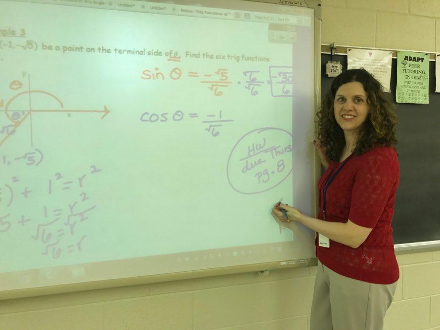 Mrs.+Jenna+Schweizer+teaching+a+math+lesson.