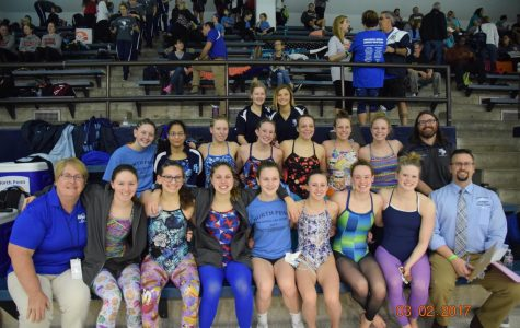 Girls navigate district waters for team title