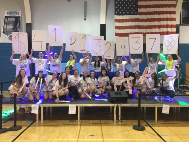 At+the+close+of+the+second+annual+Mini-THON+at+NPHS%2C+students+revealed+the+grand+total+of+donations+raised.