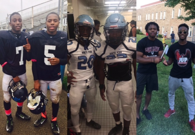 Left+to+right%3A+The+two+are+pictured+at+a+sophomore+team+football+game%2C+after+a+Friday+night+football+game+from+this+year+%28Damon+left%2C+Nick+right%29%2C+and+at+Class+Night+%28Nick+left%2C+Damon+right%29.