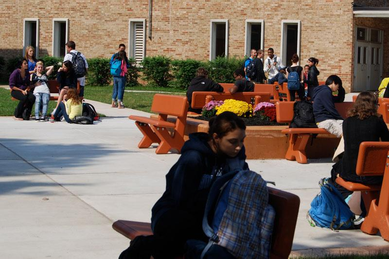Students+Welcomed+with+New+Courtyard