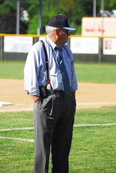 FIELD GENERAL: Don Ryan presides over a 2013 baseball state playoff game at Easton High School. Ryan, who had presides over North Penn Athletics since 1981, will retire in January.