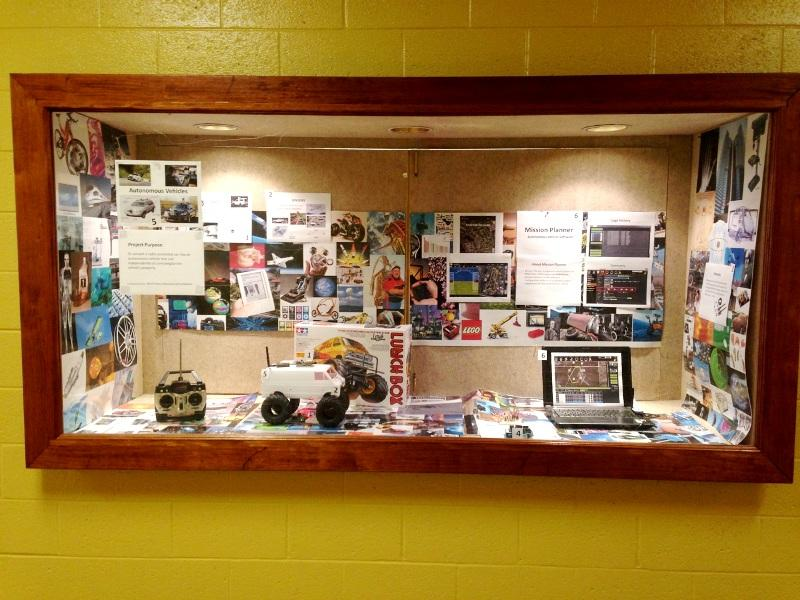 The NPHS Technology Education display window features the latest project work made possible through a NPSD Foundation grant.