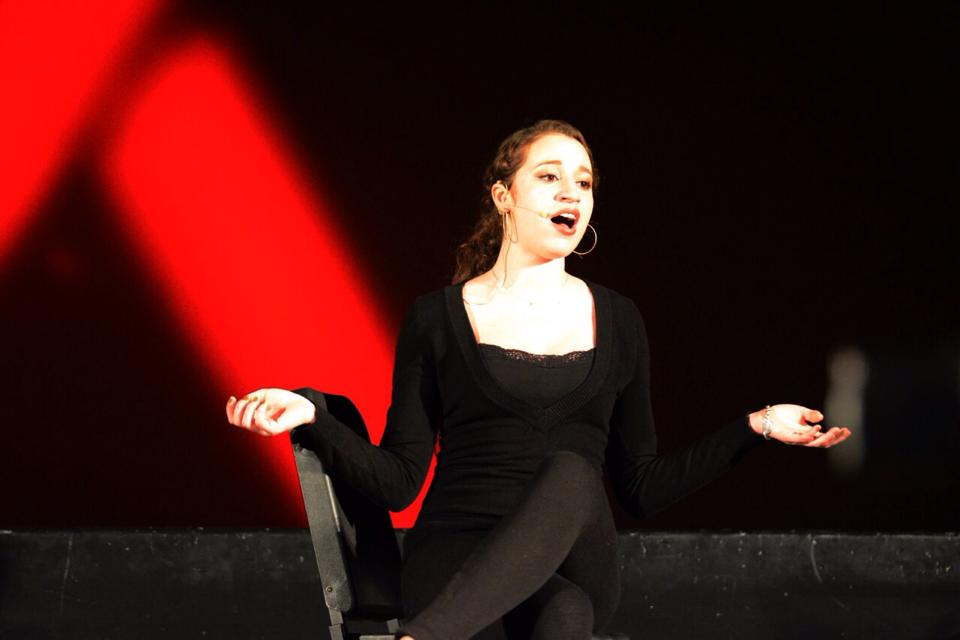 North Penn High School senior and aspiring jazz singer Juliette Shipp belts it out at 2014's annual Broadway Cares Equity Fights Aids event.