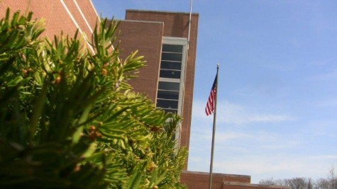 File Photo: The American flag proudly displayed outside of NPHS.