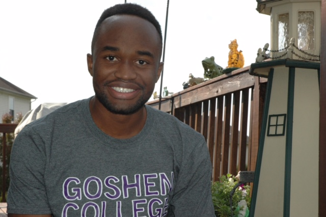 Delphin+Monga%2C+graduate+from+the+class+of+2016%2C+recalls+his+experience+of+moving+from+Uganda+to+the+United+States.+Monga+is+now+flourishing+at+Goshen+College%2C+where+he+studies+Biochemistry%2C+and+continues+his+career+in+running.
