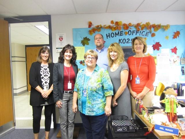 Home office K-25: Pictured L-R: Mrs. Christine McCreary, Mrs. Susan McHugh, Mrs. Judy Turner, Mr. Brian Daly, Mrs. Linda McGlinn, and Mrs. Judy McGuriman (Not pictured - Asst. Principal Mr. Stefan Muller) Photograph by Veronica Laguna
