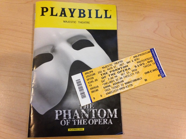The Phantom of the Opera is the longest running show on a Broadway stage, and it's no wonder why. After seeing the incredible performance on Saturday, October 15, in the Majestic Theatre, New York City, it became clear that The Phantom of the Opera set the high standards for all Broadway musicals.