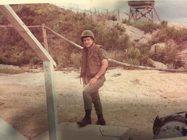 Al Chasar, the father of staff writer Meghan Chasar, poses for a photo from when he served for the United States.