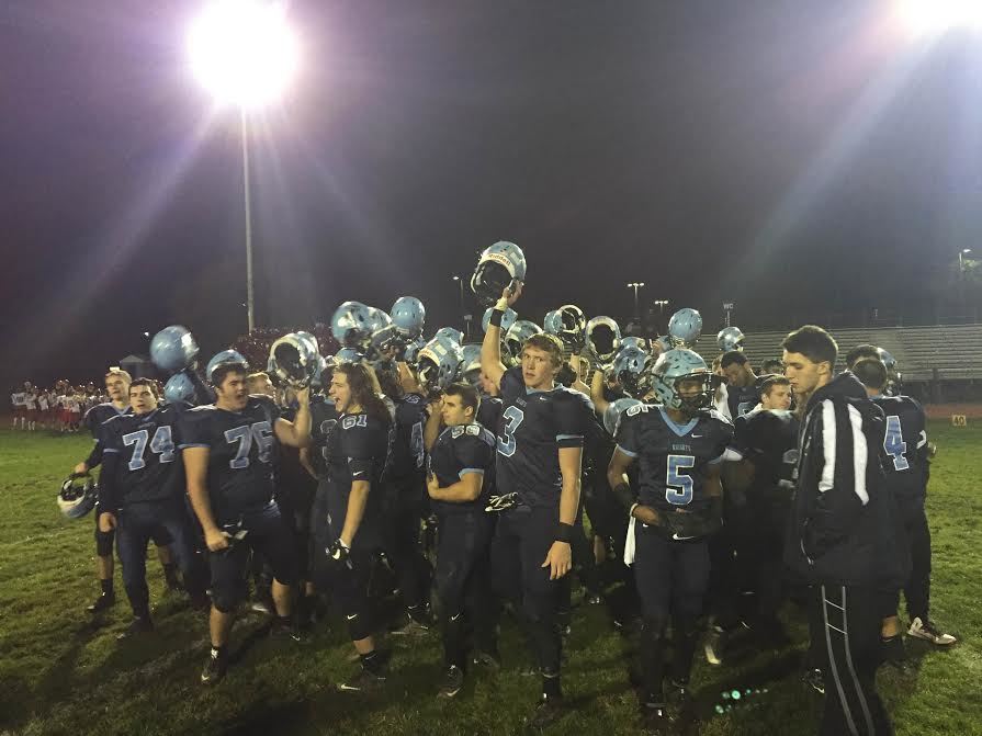 Knights celebrate win after game