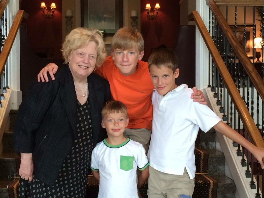 Carolyn Murphy poses for a picture with her grandsons. Murphy, a long respected teacher and school board member in the NPSD, passed away on Saturday.