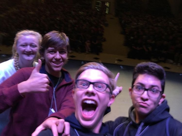 From left: Grace Pekala, Dan Wescoe, Liam McKee, and Alo Barrantes.  NPHS's Thespian Troupe won big recently when they attended the Pennsylvania State Thespian Conference. Grace Pekala, Liam McKee, Alonso Barrantes, Tom Schmids, Daniel Wescoe, and Noah Golden all returned home with wins for an event they each participated in.
