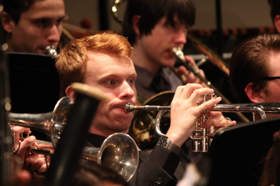 Hayden+Mackay+performs+with+the+North+Penn+Band+at+the+annual+holiday+concert.+