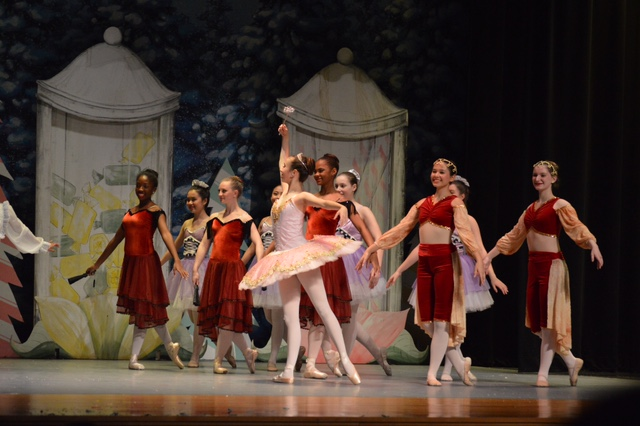 Angelina Laguna, pictured in pink above, will attend the Pittsburgh Ballet Theatre school.