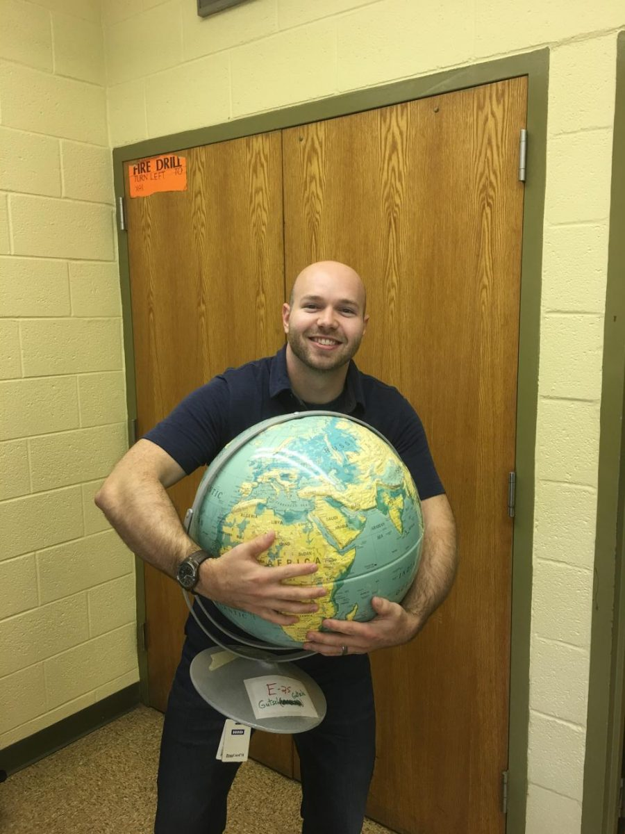 World History teacher, Mr. Ryan Gutsche expresses his love for the world both in the classroom and through his travels.