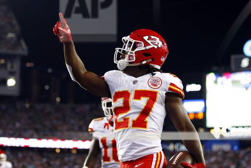 Kareem Hunt on pace for single-season scrimmage-yards record