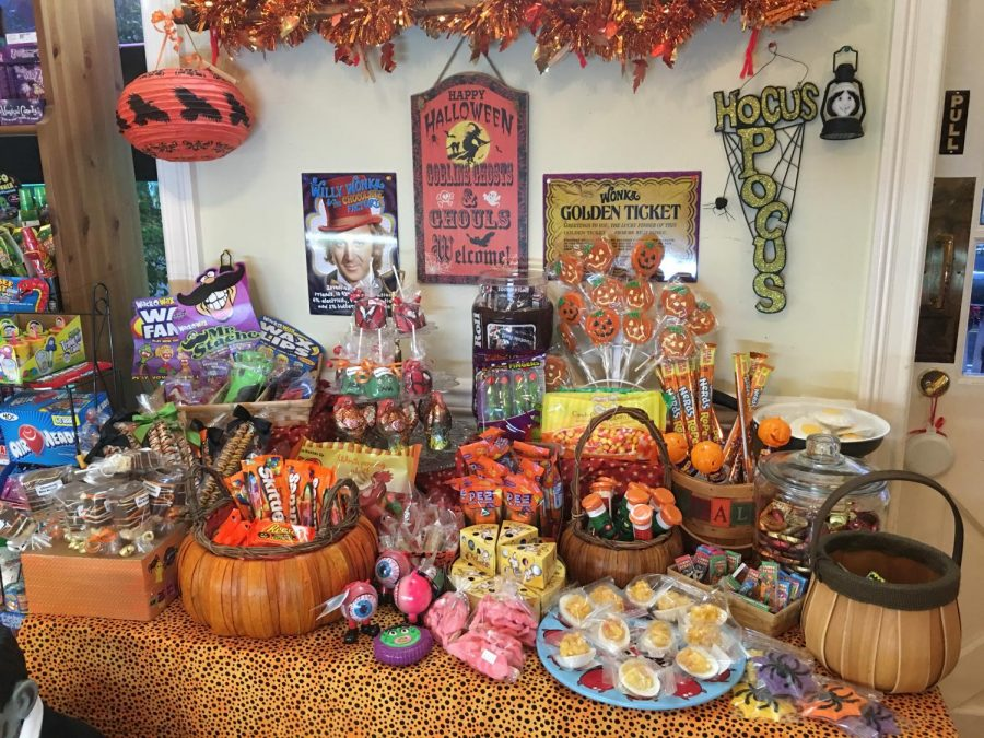 Skippack Sweet Spot shows off their selection of seasonal Halloween candy.