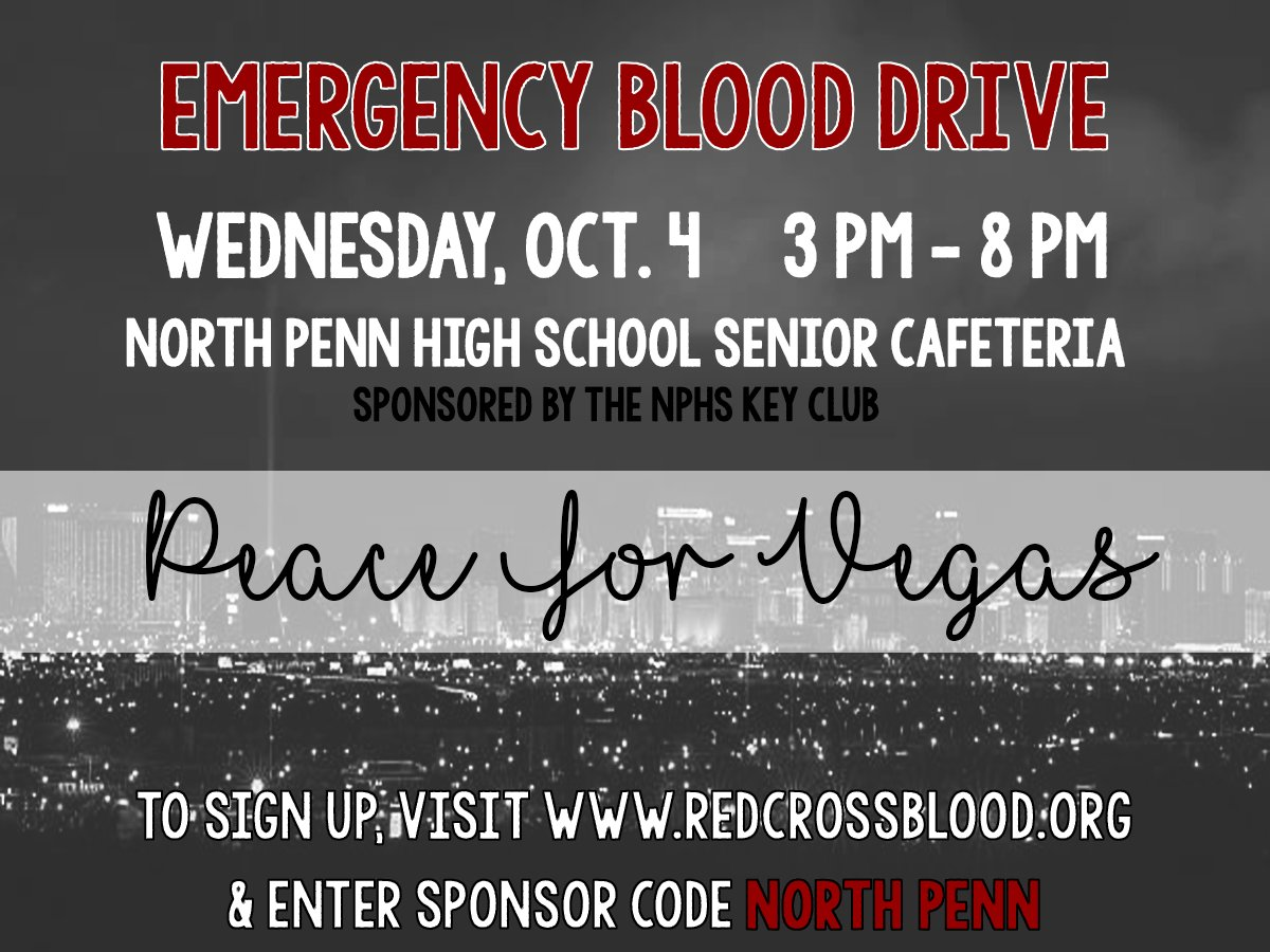 North Penn High School's Key Club hosted a blood drive for victims of the Las Vegas shooting.