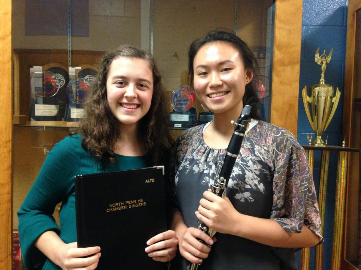 Emma Moyer (left) and Allison Yang (right) will be participating NAFMEs National Choir and Band this November.