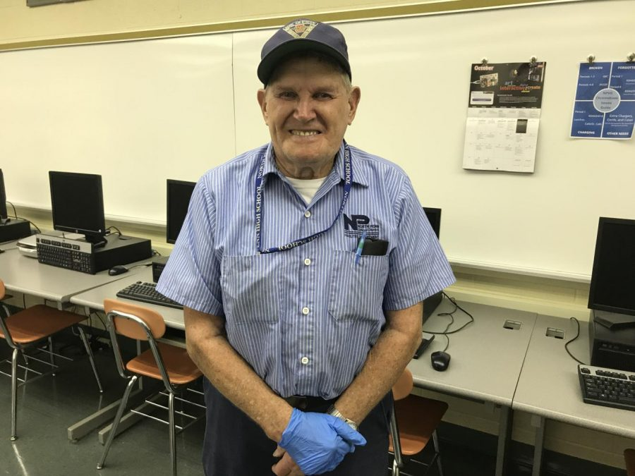 Custodian, K.O. Nelson reflects on why he continues to work at North Penn instead of retire.