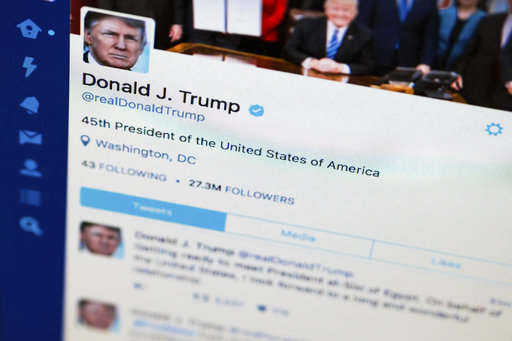 President Donald Trumps tweeter feed is photographed on a computer screen in Washington, Monday. April 3, 2017. The National Archives is telling the White House to keep each of President Donald Trumps tweets, even those he deletes or corrects. (AP Photo/J. David Ake)