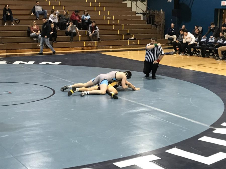 WRESTLING-+North+Penn+and+Interboro+faced+each+other+on+December+20th%2C+2017+for+an+out+of+conference+match+up.+