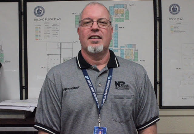 NPHS+Facilities+Supervisor+Tobe+Hilbert+took+over+for+Bob+Lanettii+who+was+promoted+over+the+summer.+Hilbert+has+wasted+no+time+carving+a+new+niche+at+NPHS.