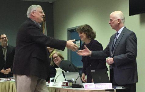 School Board approves items, honors longtime member John Schilling