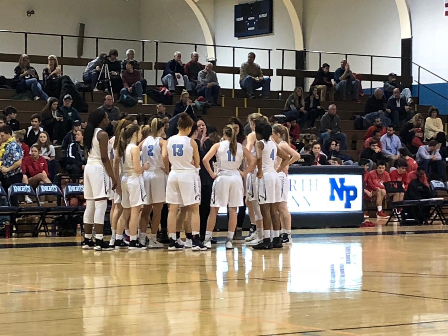 BASKETBALL- After a promising first quarter, the North Penn Knights fell to the Souderton Indians on Friday, February 2nd.