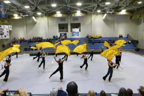 Color Guard spinning their way to the top