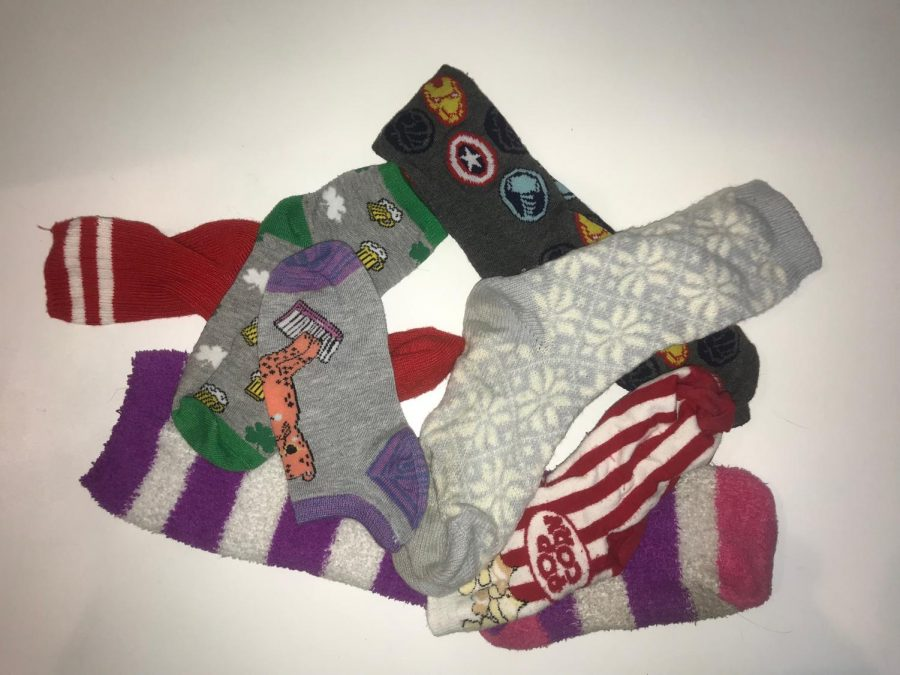 NP students and staff raised awareness for Down Syndrome by wearing crazy socks such as these.