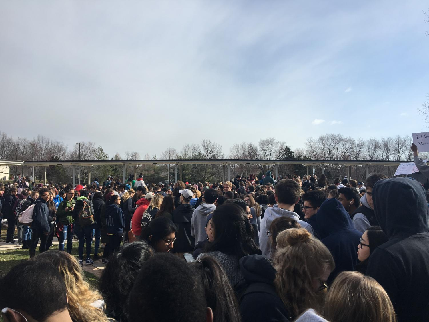 Wednesday, March 14th, North Penn High School students participated in the national school walkout against school shootings.