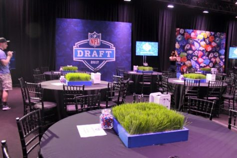 NFL DRAFT - The 2016 NFL draft was hosted in Philidelhpia. Pictured above is the room where prospects awaited team decisions.