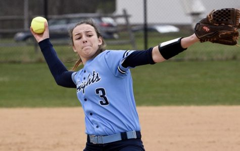 SOFTBALL -  North Penn pitcher Maddy Volpe sends a ball to home plate on Tuesday, April 17th.
