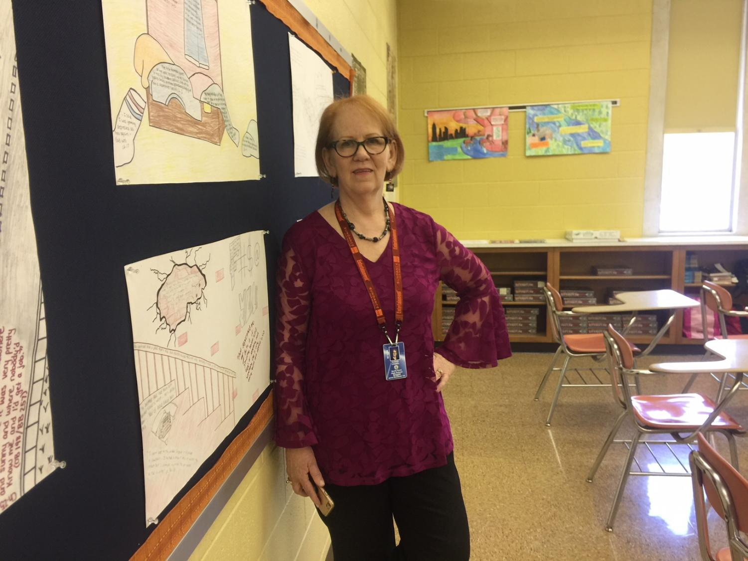 One of North Penn's most well known English teachers, Mrs. Cassel takes pride in both her students and books.