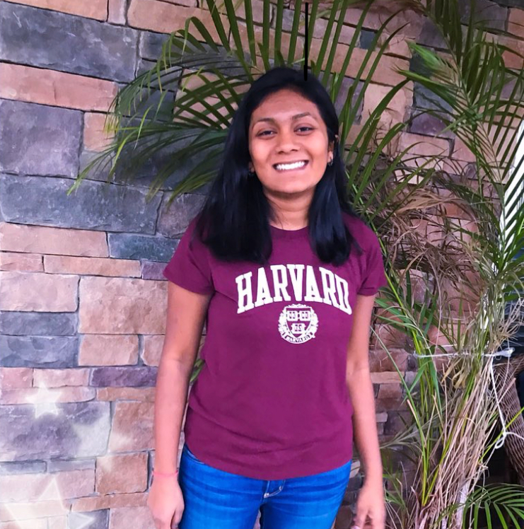 Valedictorian+Palak+Shah+poses+for+a+picture+wearing+her+college+shirt