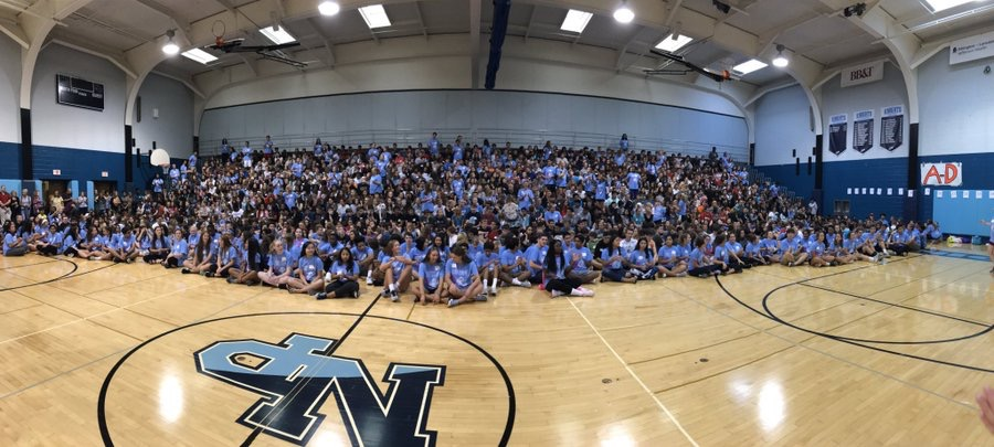 Class of 2020 at their sophomore orientation in August 2017