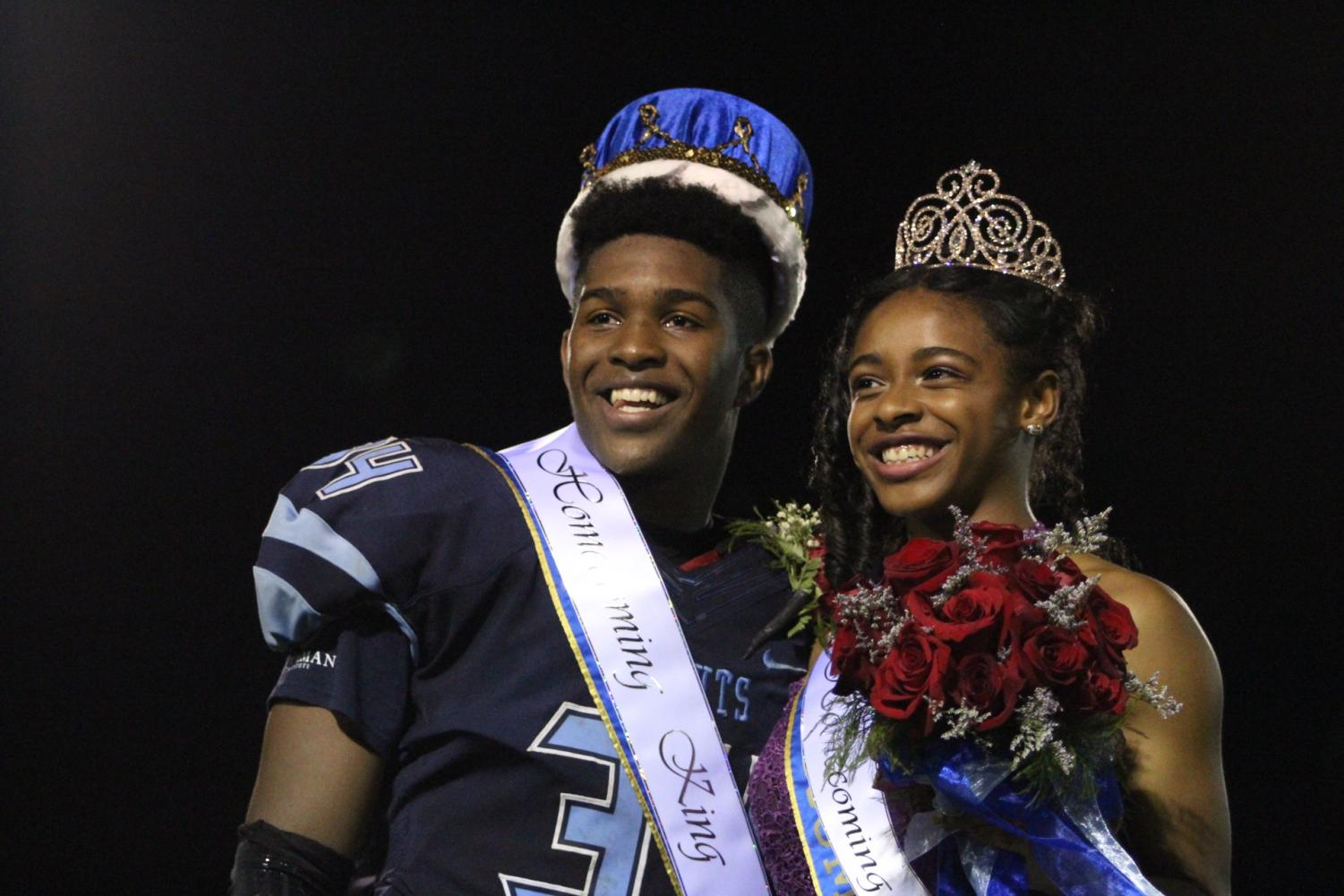 White and Faison crowned homecoming king and queen.