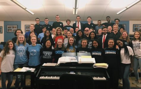 NPHS Chamber Singers perform next to Broadway Stars
