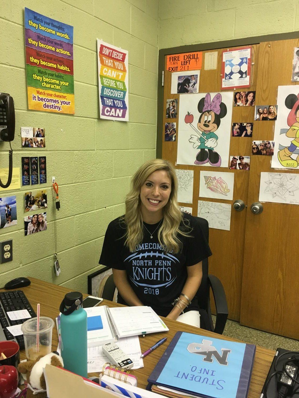 Ms. Christina Childs sits at her desk, preparing to teach her third period Algebra 2 class.