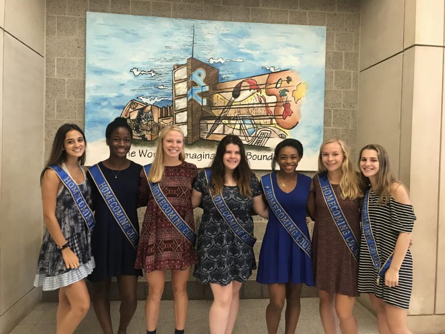 NPHS: The 2018 Homecoming Queen candidates pose for a picture