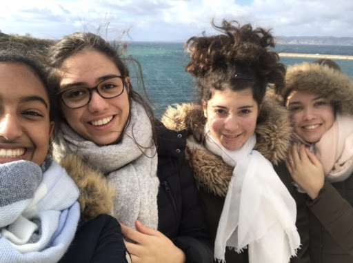 A year abroad: Moira Shoush (left) in Toulouse during the 17-18 school year