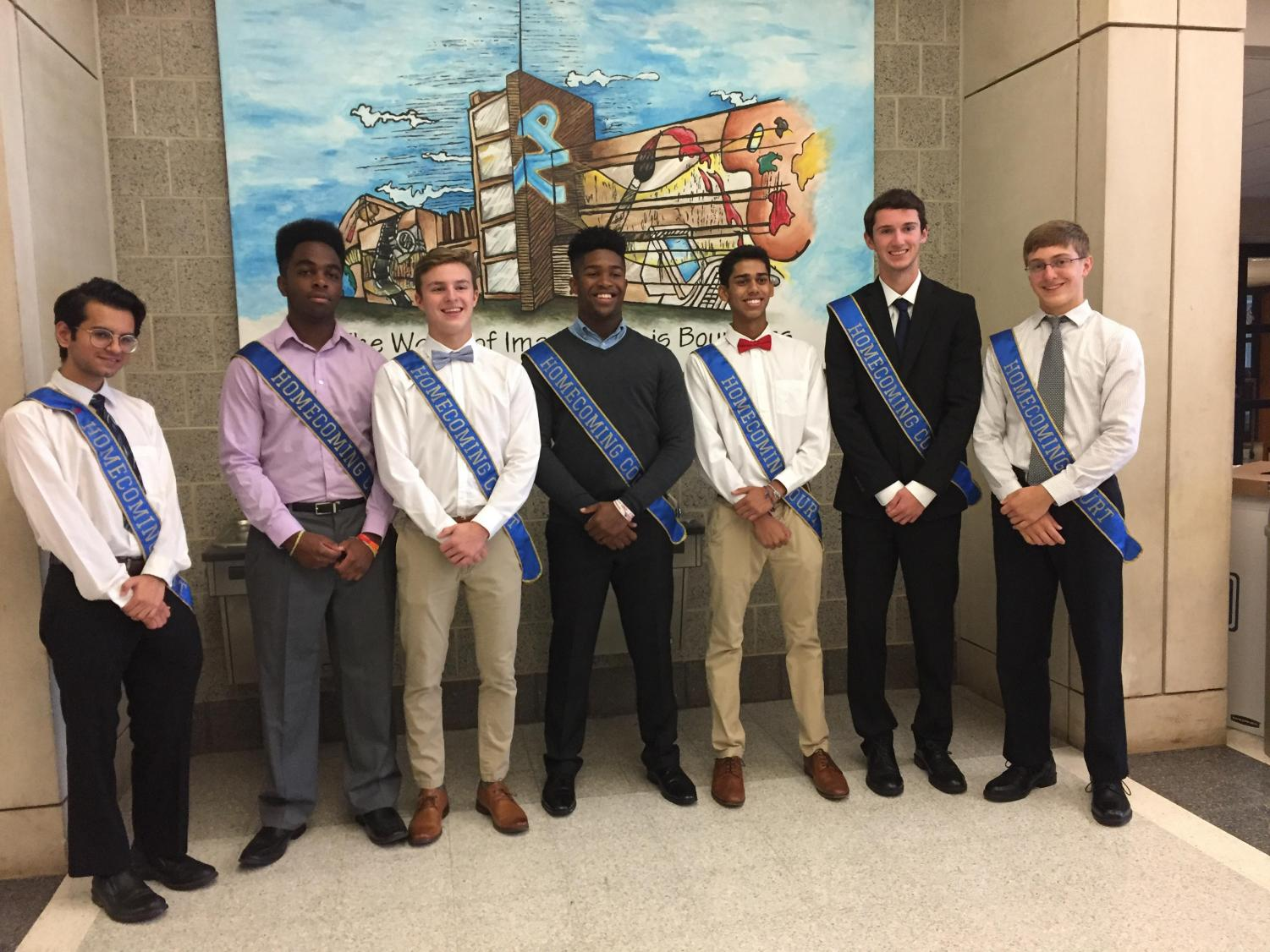 NPHS: The 2018 Homecoming King candidates pose for a picture