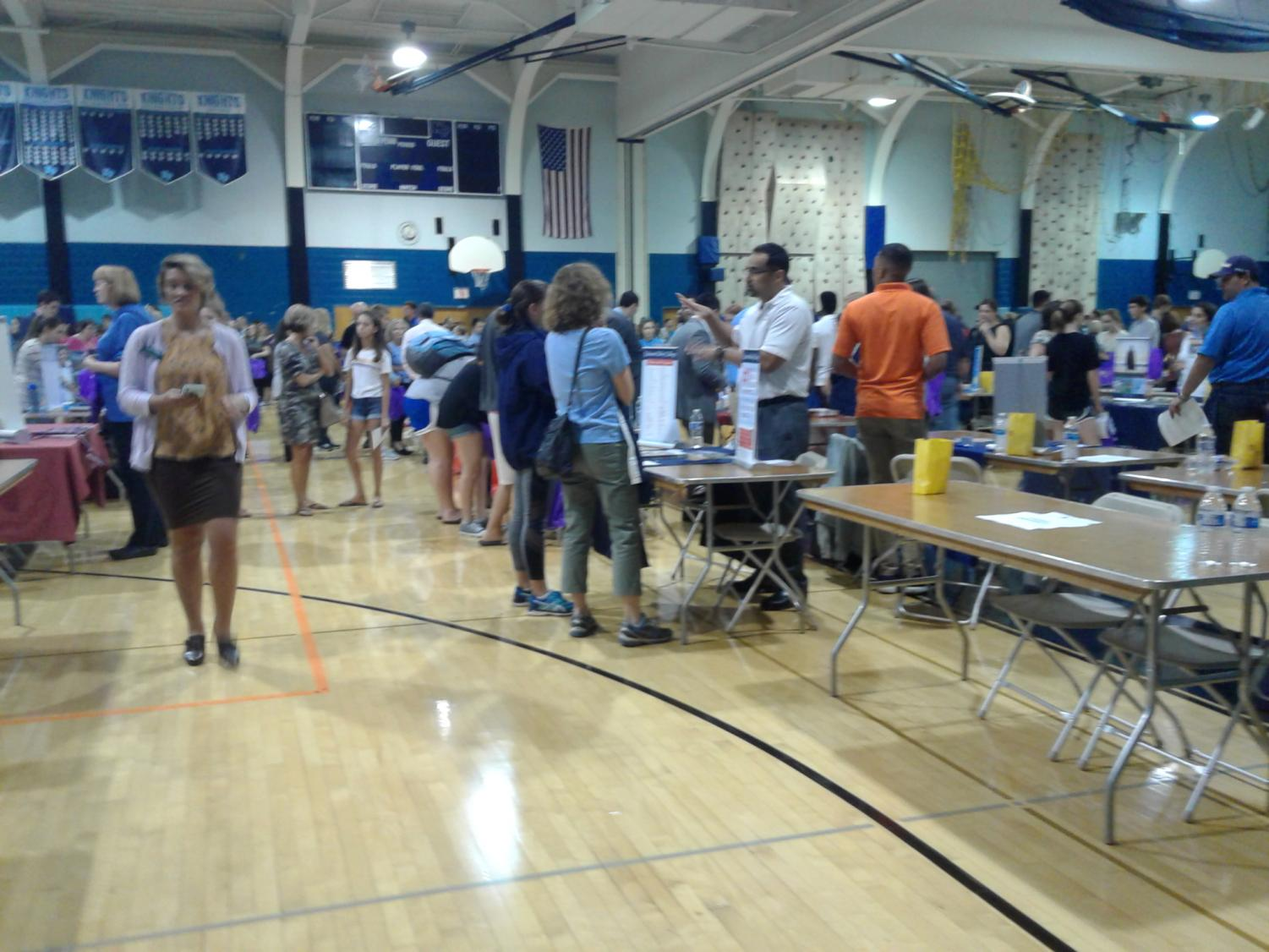 North Penn students and families attend the annual college fair a NPHS last Thursday